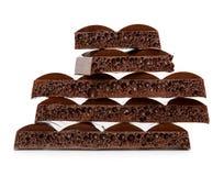 Dark porous chocolate Stock Photo