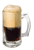 Dark porter beer with froth head, clipping path Royalty Free Stock Images