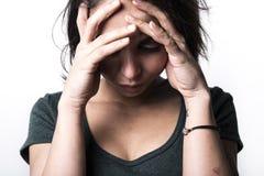 Dark portrait woman depress Royalty Free Stock Image