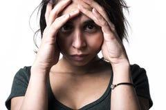 Dark portrait woman depress Royalty Free Stock Photo