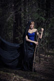 Dark portrait of the forest keeper. Fantasy and Royalty Free Stock Photos