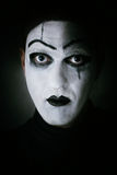Dark portrait mime actor Royalty Free Stock Image