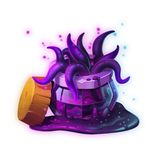 The Dark Potion. Game Assets, Card Object isolated on White or Black Background. royalty free illustration