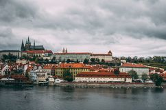 Prague oldtown on a moody day. Dark Prague oldtown on a moody day Stock Images