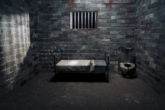 Free Dark Prison Cell At Night Stock Photos - 16387283