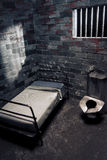 Dark prison cell at night royalty free stock photos