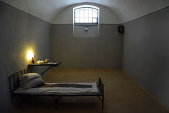 Dark prison cell in Peter and Paul fortress Royalty Free Stock Images