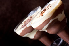 Dark pudding Royalty Free Stock Photo