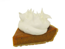 Dark Pumpkin Pie with Whipped Cream Royalty Free Stock Photography