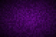 Dark purple abstract background with transparent squares. Mosaic look, vector illustration vector illustration