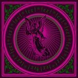 Dark Purple Angel Quad. Stock Images