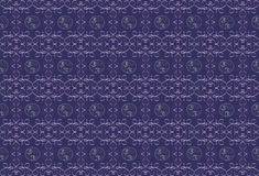 Dark purple background with a lilac pattern. Royalty Free Stock Photography