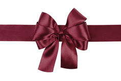 Dark purple bow photo made from silk Royalty Free Stock Photos