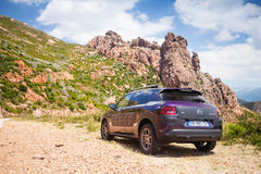 Dark purple Citroen C4 Cactus Stock Photo