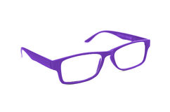Dark Purple Eye Glasses Isolated on White shallow depth of field Stock Images