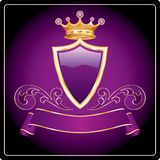 Dark purple gold Royalty Free Stock Photos
