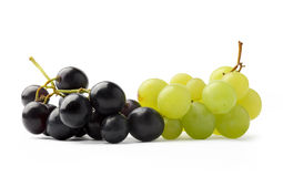 Dark purple and green grapes Royalty Free Stock Photo