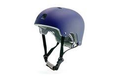 Dark purple helmet isolated Royalty Free Stock Images