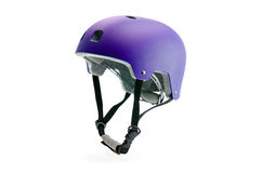 Dark purple helmet isolated on white Stock Photography
