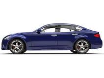 Dark Purple Luxury Car. Isolated on white background stock image