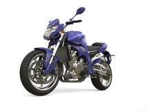 Dark purple modern motorcycle. Isolated on white background Royalty Free Stock Photos