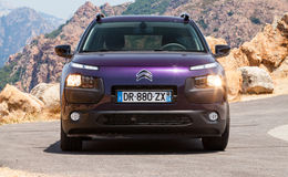 Dark purple new Citroen C4 Cactus, frontal view Stock Photography