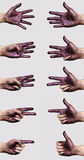 Dark purple Paint on Hands Stock Photography