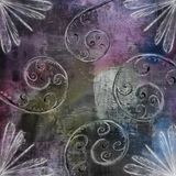 Dark Purple Textile Spiral Designer Grunge Wallpapers stock illustration
