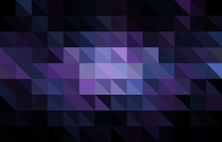 Dark Purple vector polygon abstract template. Colorful abstract illustration with gradient. royalty free illustration