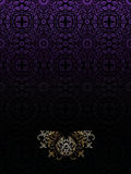 Dark Purple Vintage High Ornate Background Royalty Free Stock Images