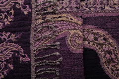 Dark purple weaved fabric Stock Photos
