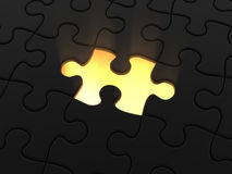 Dark puzzle Stock Image