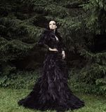 Dark Queen in park Royalty Free Stock Photography