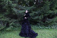 Dark Queen in park Royalty Free Stock Images