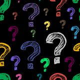 Dark questions Royalty Free Stock Image