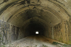 Dark railway abandoned Tunnel Royalty Free Stock Photo