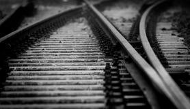 Dark railway closeup Stock Image