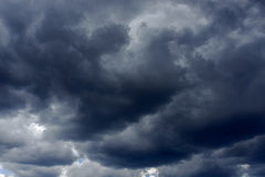 Dark rain clouds Stock Photography