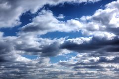 Rain clouds. Sunny day. Stock Photography