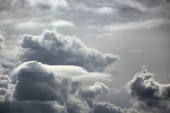 Rain clouds. Sunny day. Royalty Free Stock Images