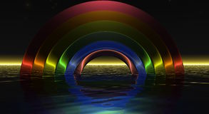 Dark Rainbow Stock Photography