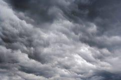 Dark rainy clouds. Shot of the dark rainy clouds Stock Photo