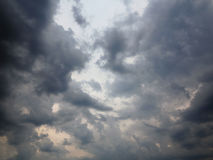 Dark rainy clouds. Image of the dark rainy clouds stock image