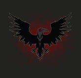 Dark Raven. Bird Vector Illustration Royalty Free Stock Image