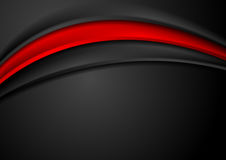 Dark red abstract smooth waves background. Vector graphic design Royalty Free Stock Photo