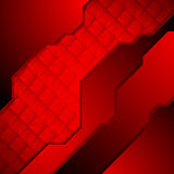 Dark red abstract technology background Stock Image