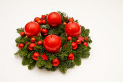 Dark red advent wreath Royalty Free Stock Photography