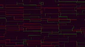 Dark red animated background. With moving abstract lines and figures computer rendering stock video