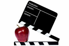 Dark red apple Royalty Free Stock Images