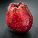 Dark-red apple. Stock Photo